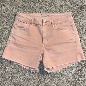 American Eagle faded coral Hi-Rise Shortie size 4